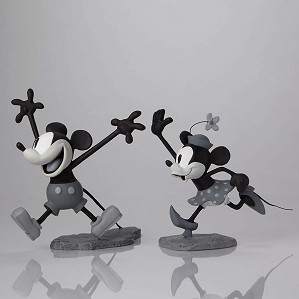 Walt Disney Archives-Mickey and Minnie B/W Maquettes