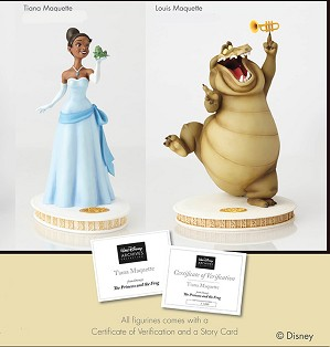 Walt Disney Archives-Tiana And Louis Maquette From The Princess and the Frog