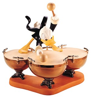 WDCC Disney Classics-Symphony Hour Donald Duck Donald's Drum Beat