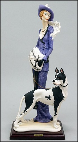 Giuseppe Armani-LADY WITH GREAT DANE