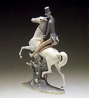Lladro-Man On Horse 1969-85