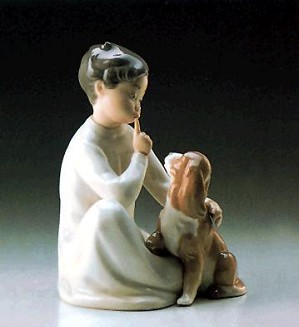 Lladro-Boy With Dog 1970-97