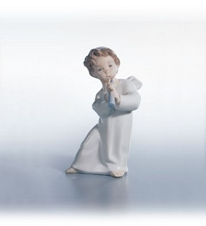 Lladro-Angel With Horn