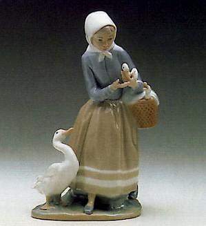 Lladro-Shepherdess With Ducks 1969-93