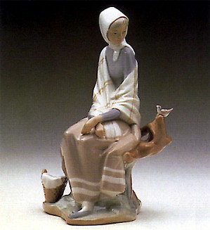 Lladro-New Shepherdess 1969-85