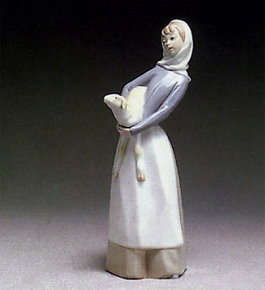 Lladro-Girl With Lamb 1969-93
