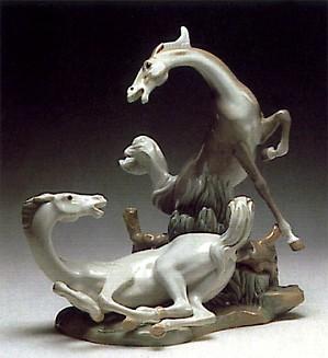 Lladro-Playful Horses 1969-89