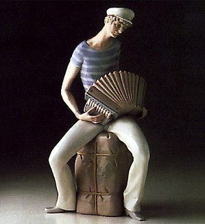 Lladro-Sailor Accordian Player 1969-78