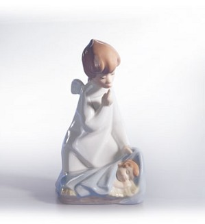 Lladro-Angel With Child 1969-02