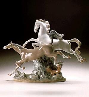 Lladro-Horses Galloping 1969-2000