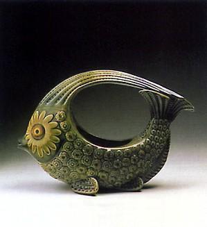 Lladro-Fish Centerpice (green) 1970-74