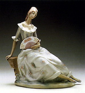 Lladro-Lady with Fan 1970-81
