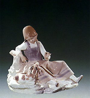 Lladro-Girl with Goat 1971-78