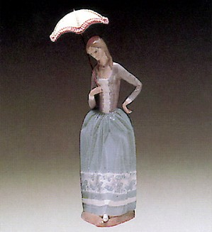 Lladro-Woman with Umbrella 1972-81