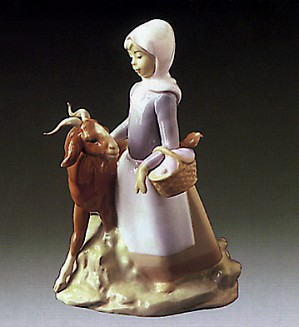 Lladro-Little Girl with Goat 1972-87