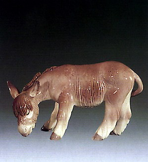 Lladro-Donkey Eating 1972-79