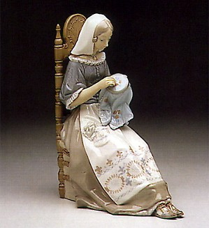 Lladro-Embroiderer 1974-94