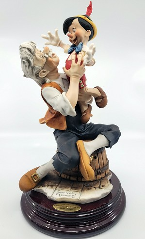 Giuseppe Armani-Pinocchio And Gepetto - A Father's Love Artist Signed