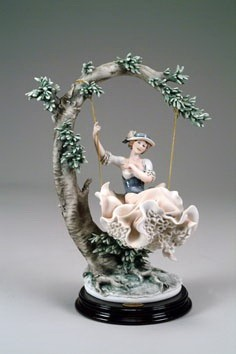 Giuseppe Armani-Young Lady On Swing One Of A Kind Coloration