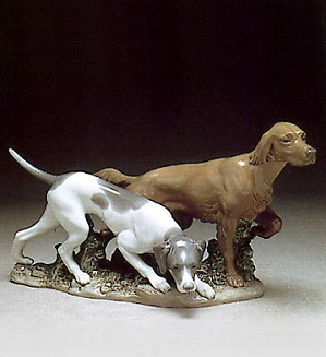Lladro-Attentive Dogs 1977-81