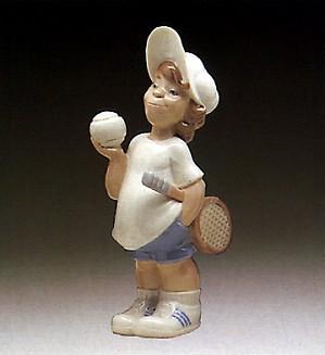Lladro-Tennis Player Puppet 1977-85