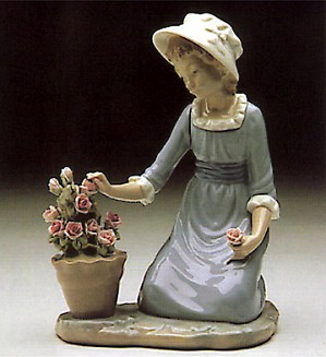 Lladro-Flowers In Flower Pot 1980-85