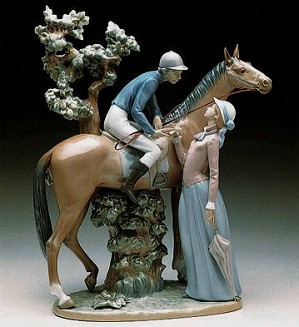 Lladro-Jockey With Lass 1979-00