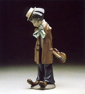 Lladro-Clown with Violin 1980-85