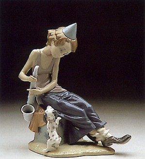 Lladro-Clown With Saxaphone 1980-85