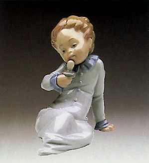 Lladro-Baby with Pacifier 1982-85