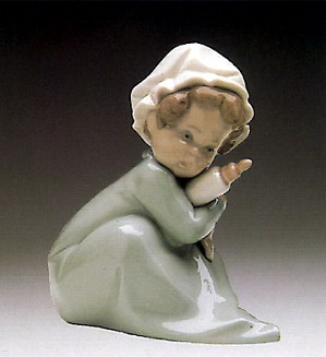 Lladro-Baby Holding Bottle 1982-85