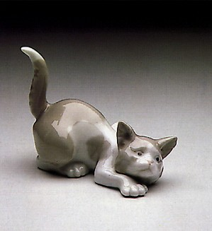 Lladro-Attentive Cat