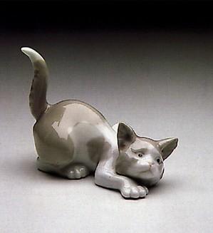 Lladro-Attentive Cat