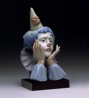 Lladro-Jester with Base 1982-00