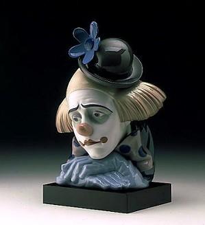 Lladro-Pensive Clown 1982-00