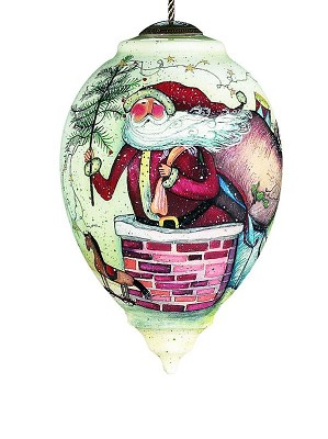 Susan Winget-Down the chimney Neqwa Ornament