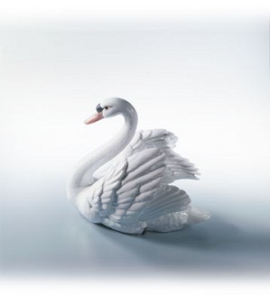 Lladro-Swan with Wings Spread 1984-07