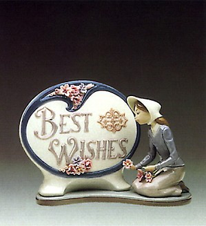 Lladro-Best Wishes Plaque 1984-86 ***