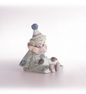 Lladro-Pierrot With Puppy 1985-07