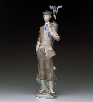 Lladro-Waiting To Tee Off 1985-99