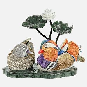 Swarovski Crystal-Myriad Mandarin Ducks