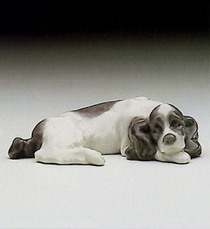 Lladro-Miniature Puppy Cocker Spaniel 1985-93
