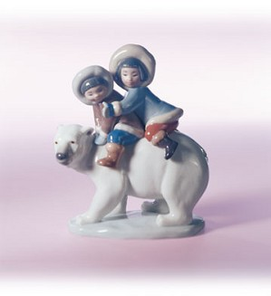 Retired Lladro-Eskimo Riders
