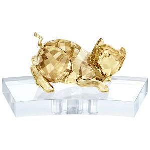 Swarovski Crystal-Chinese Zodiac - Pig GOLD