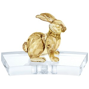 Swarovski Crystal-Chinese Zodiac - Rabbit GOLD