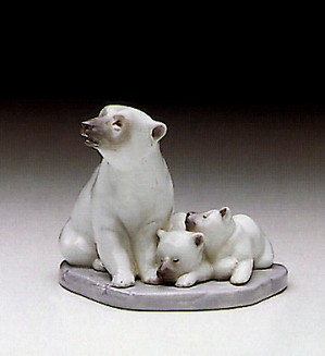 Lladro-Minature Polar Bears 1987-00