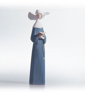 Lladro-Prayful Moment (white) 1988-91