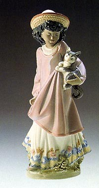 Lladro-My New Pet Cat 1989-99