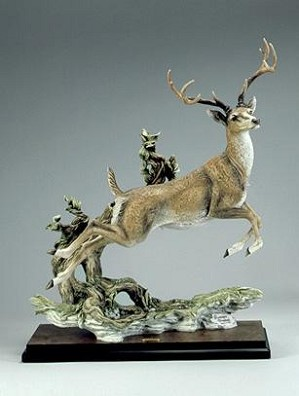 Giuseppe Armani-Monarch Jumping Deer Signed By Giuseppe Armani