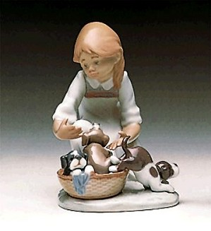 Lladro-Joy In A Basket 1989-97